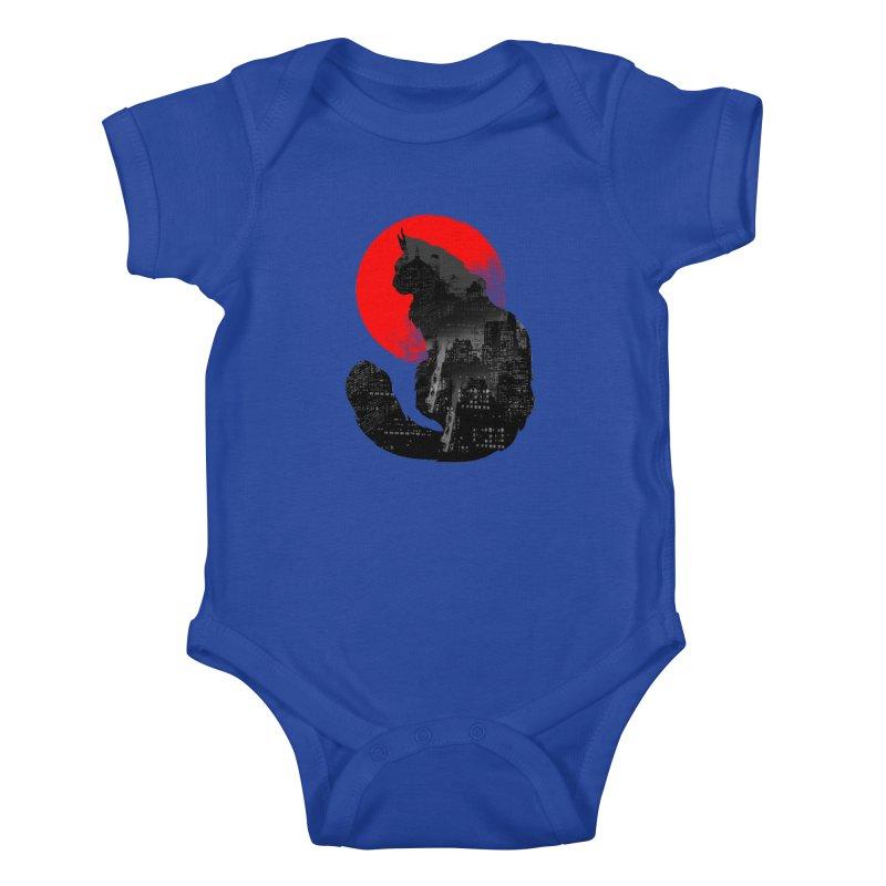 Urban Cat Kids Baby Bodysuit by clingcling's Artist Shop