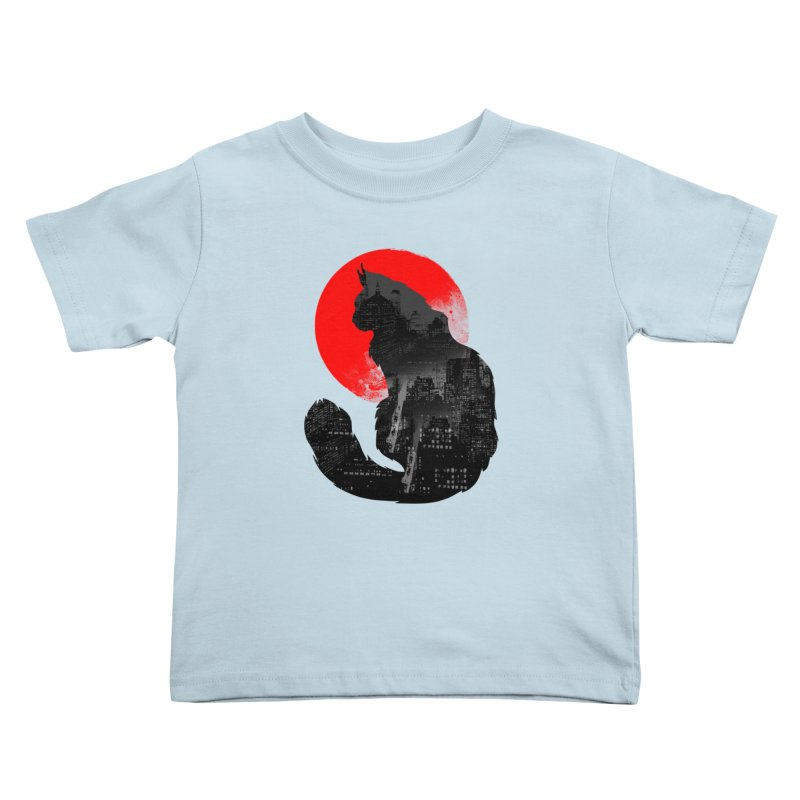 Urban Cat Kids Toddler T-Shirt by clingcling's Artist Shop
