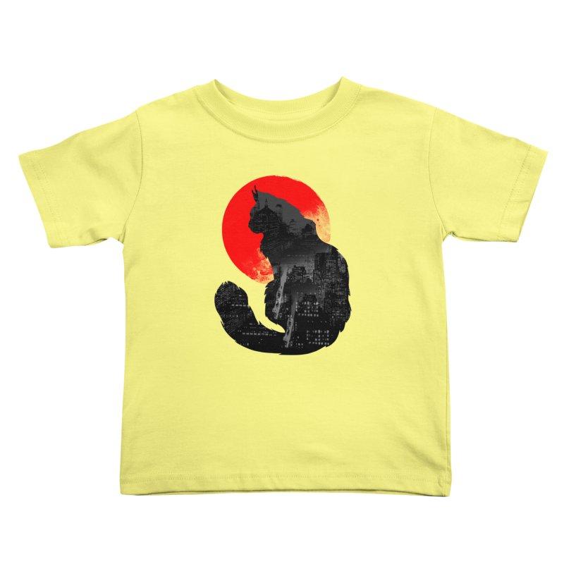 Urban Cat Kids Toddler T-Shirt by clingcling's Artist Shop