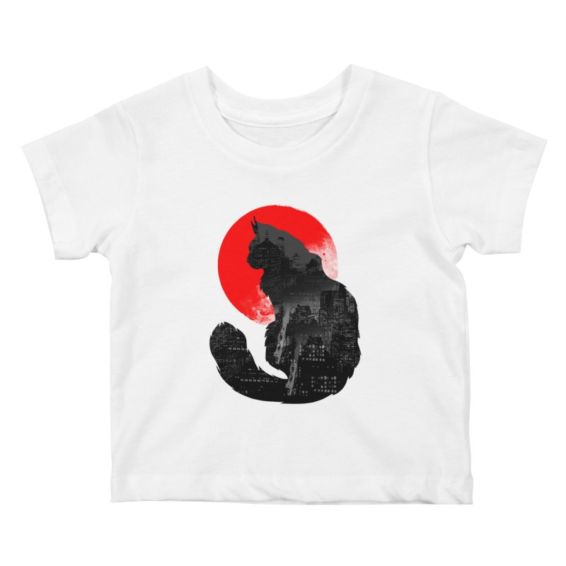 Urban Cat Kids Baby T-Shirt by clingcling's Artist Shop