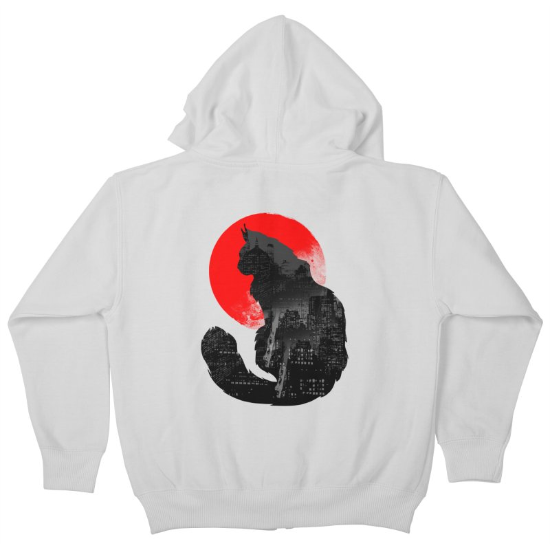 Urban Cat Kids Zip-Up Hoody by clingcling's Artist Shop