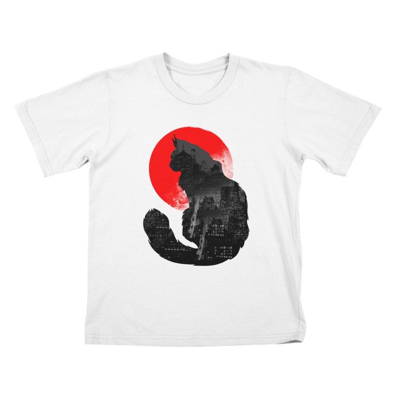Urban Cat Kids T-Shirt by clingcling's Artist Shop