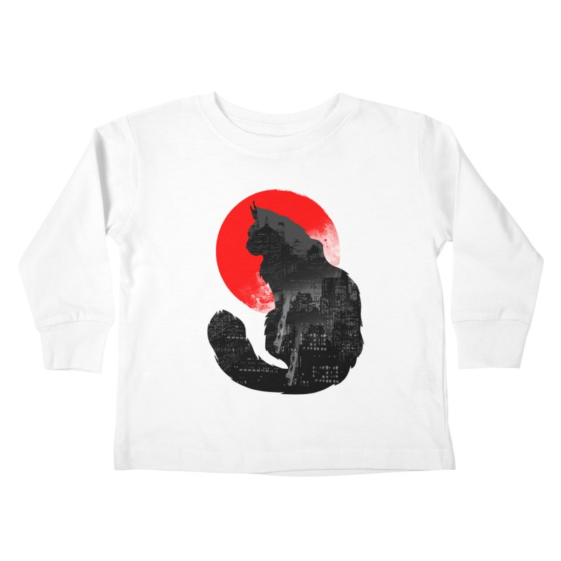Urban Cat Kids Toddler Longsleeve T-Shirt by clingcling's Artist Shop