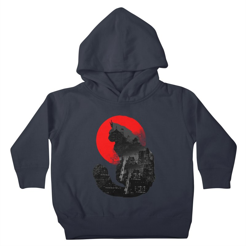 Urban Cat Kids Toddler Pullover Hoody by clingcling's Artist Shop