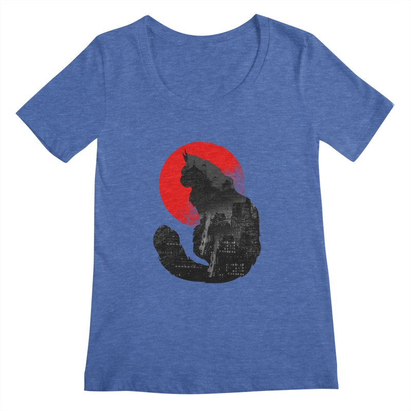 Urban Cat Women's Scoopneck by clingcling's Artist Shop