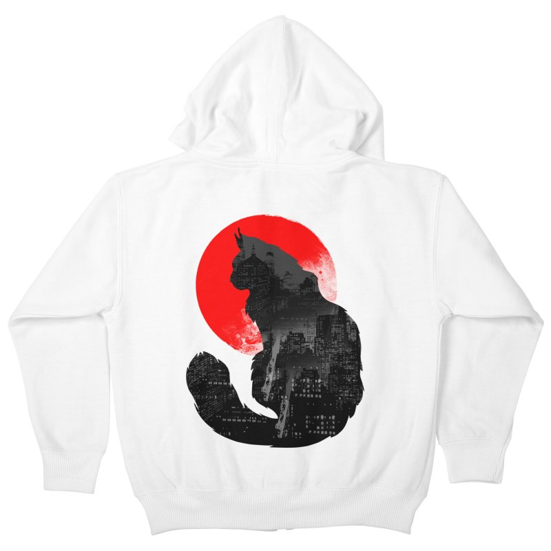 Urban Cat Kids Zip-Up Hoody by clingcling's Artist Shop