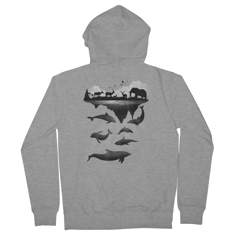 Wild Life Men's Zip-Up Hoody by clingcling's Artist Shop