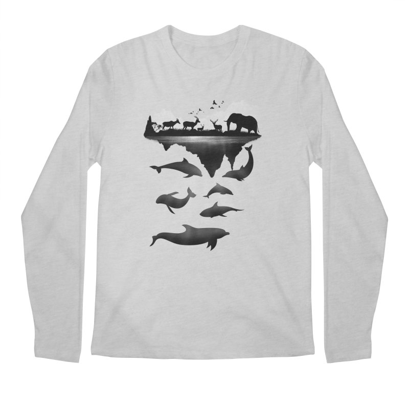 Wild Life Men's Longsleeve T-Shirt by clingcling's Artist Shop