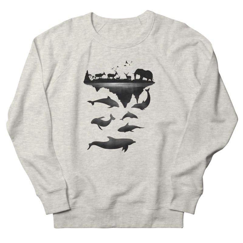 Wild Life Men's Sweatshirt by clingcling's Artist Shop