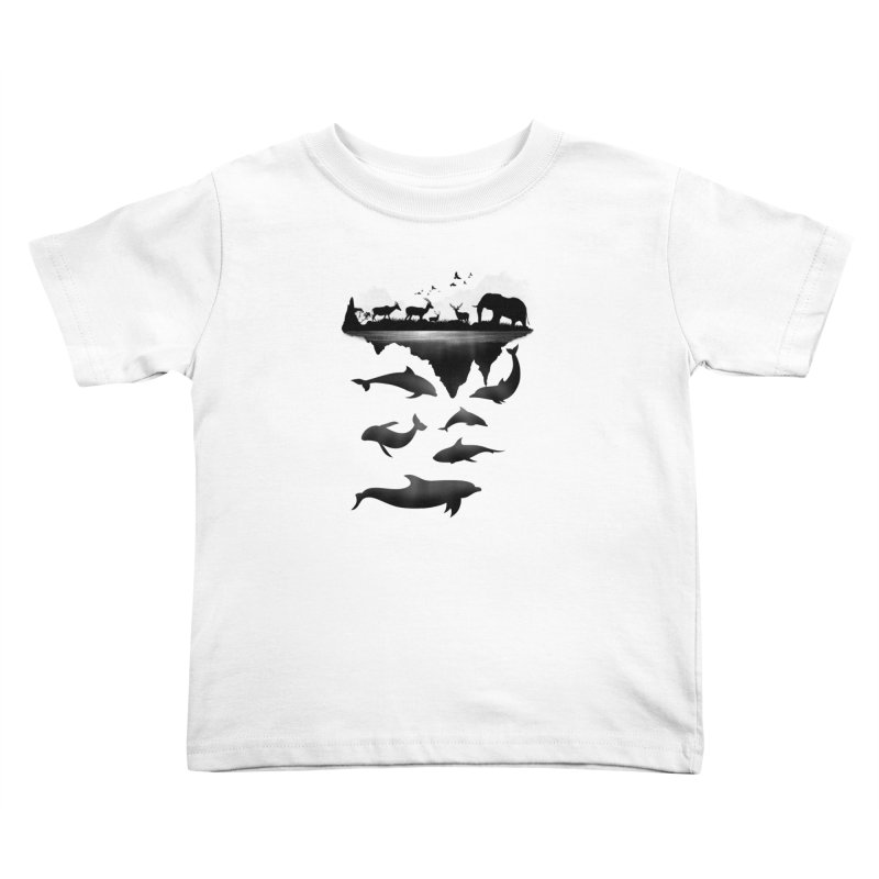 Wild Life Kids Toddler T-Shirt by clingcling's Artist Shop