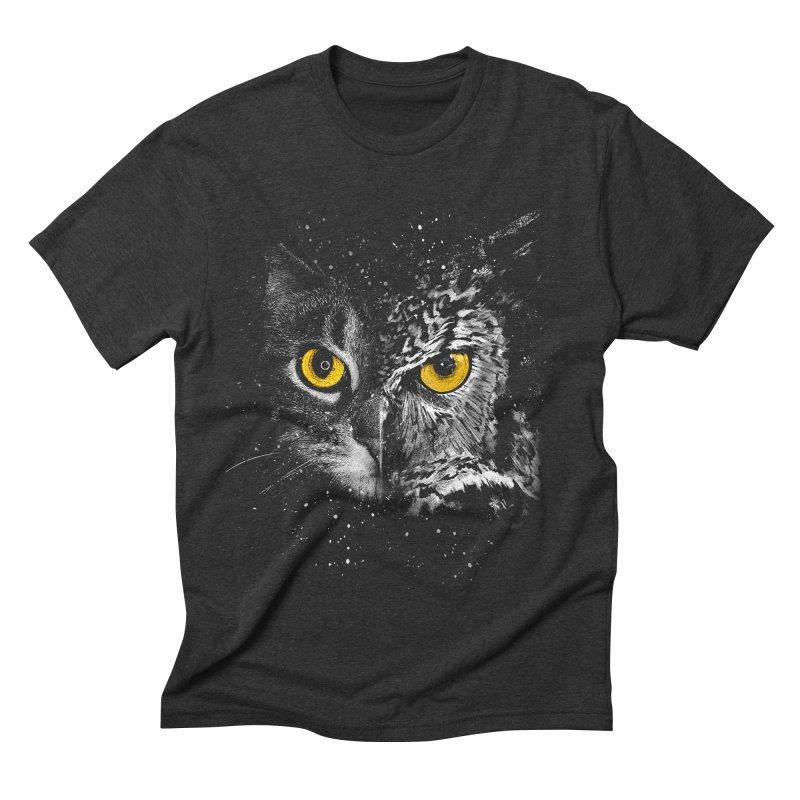 Two Face Men's Triblend T-shirt by clingcling's Artist Shop