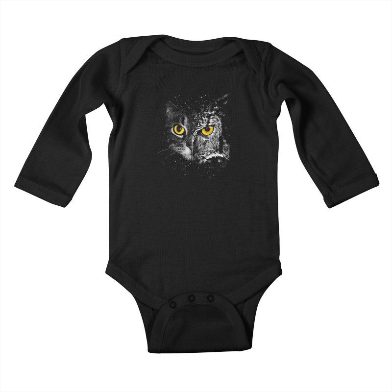 Two Face Kids Baby Longsleeve Bodysuit by clingcling's Artist Shop