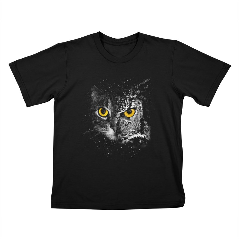 Two Face Kids T-shirt by clingcling's Artist Shop
