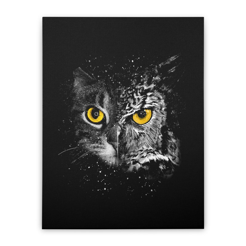 Two Face Home Stretched Canvas by clingcling's Artist Shop