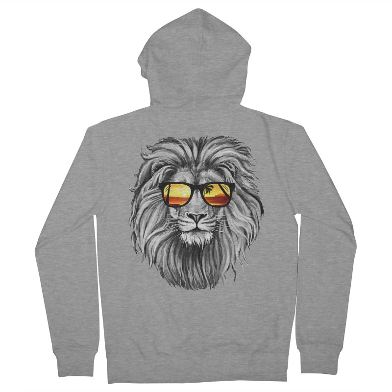 Summer Lion Men's Zip-Up Hoody by clingcling's Artist Shop