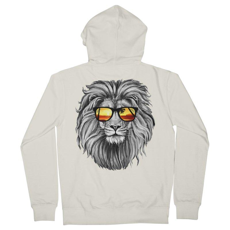 Summer Lion Men's Zip-Up Hoody by clingcling's Artist Shop