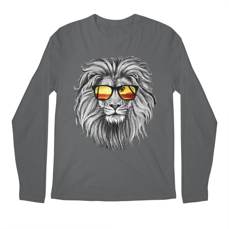 Summer Lion Men's Longsleeve T-Shirt by clingcling's Artist Shop