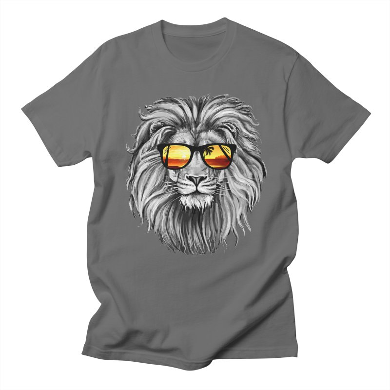 Summer Lion Men's T-shirt by clingcling's Artist Shop