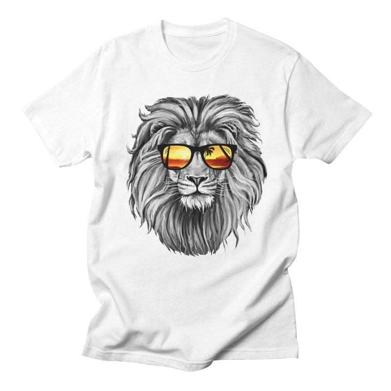 Summer Lion Men's T-Shirt by clingcling's Artist Shop