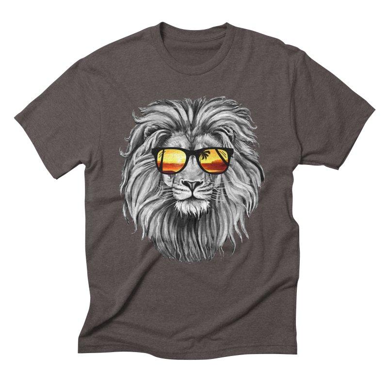 Summer Lion Men's Triblend T-Shirt by clingcling's Artist Shop