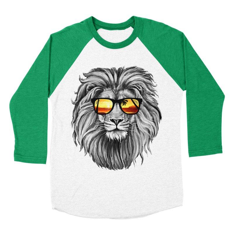 Summer Lion Women's Baseball Triblend T-Shirt by clingcling's Artist Shop