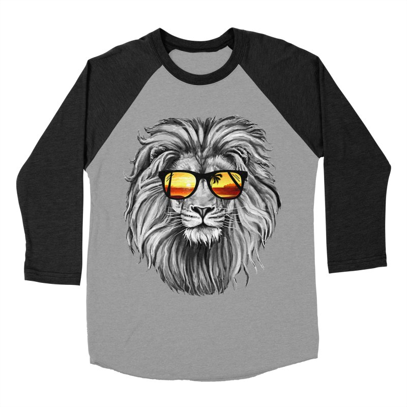 Summer Lion Women's Baseball Triblend T-Shirt by clingcling's Artist Shop