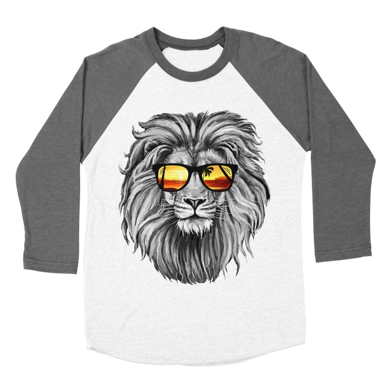 Summer Lion Men's Baseball Triblend T-Shirt by clingcling's Artist Shop