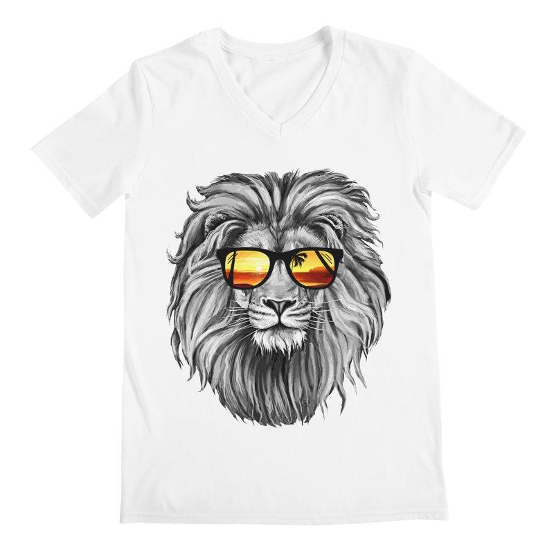 Summer Lion Men's V-Neck by clingcling's Artist Shop