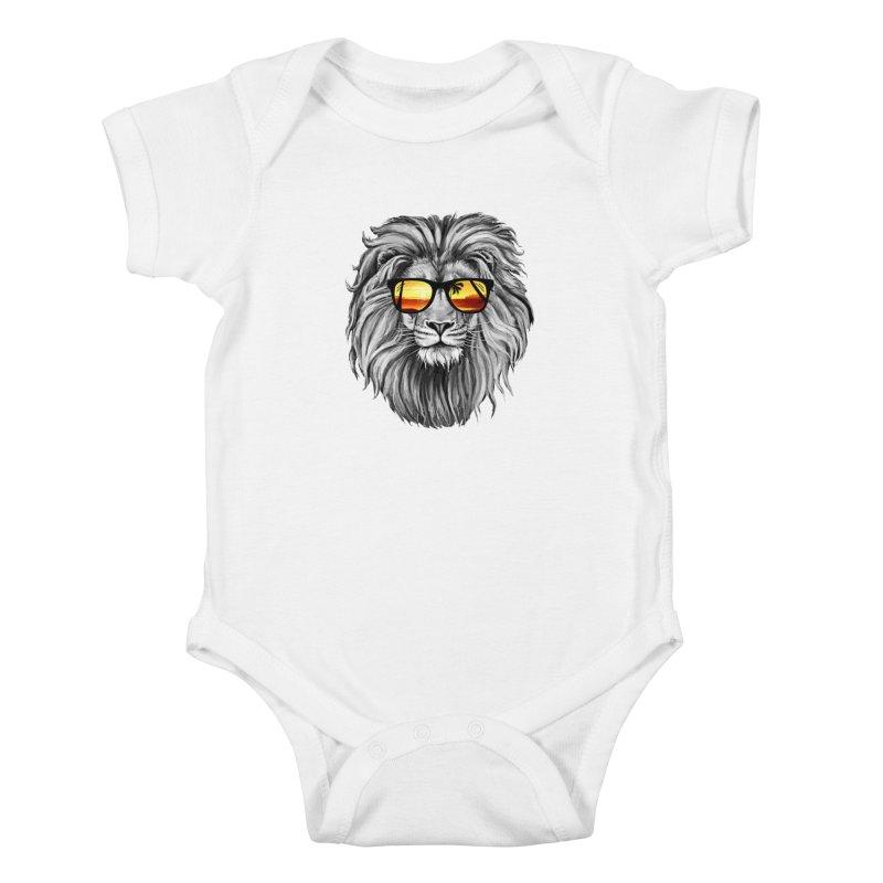 Summer Lion Kids Baby Bodysuit by clingcling's Artist Shop