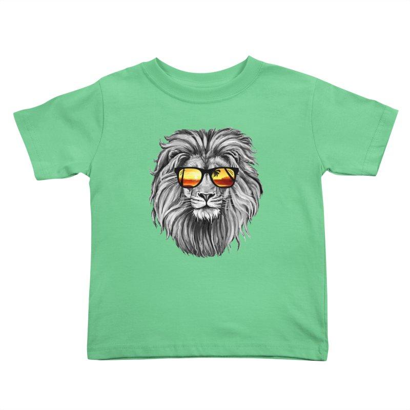 Summer Lion Kids Toddler T-Shirt by clingcling's Artist Shop