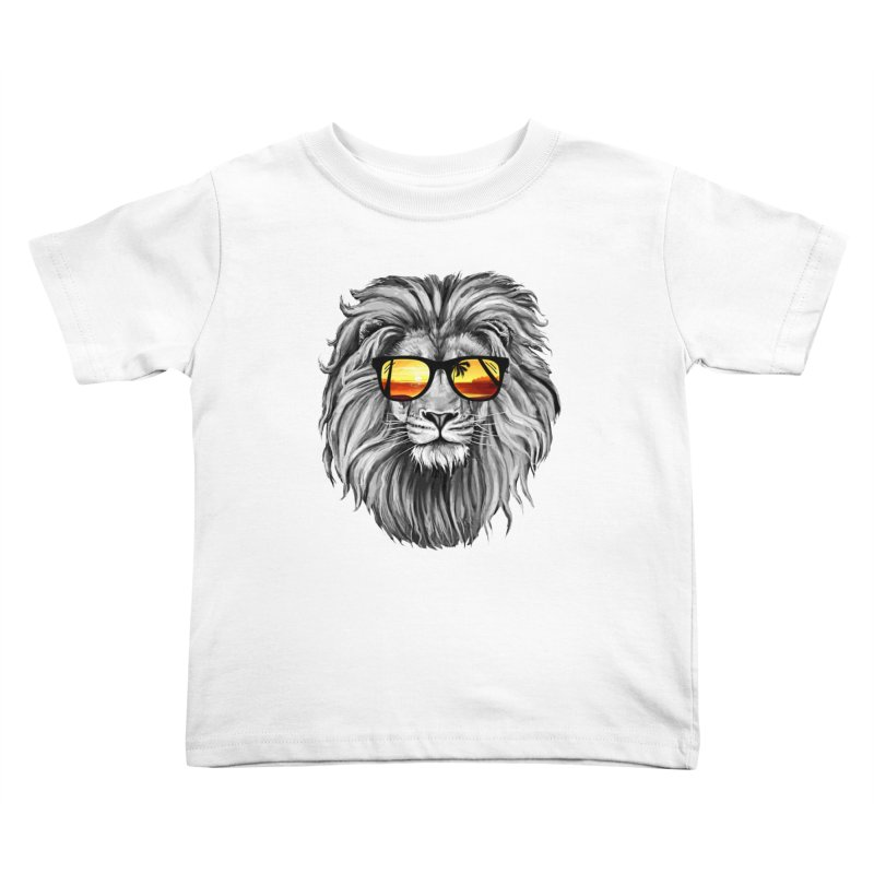 Summer Lion Kids Toddler T-Shirt by clingcling's Artist Shop
