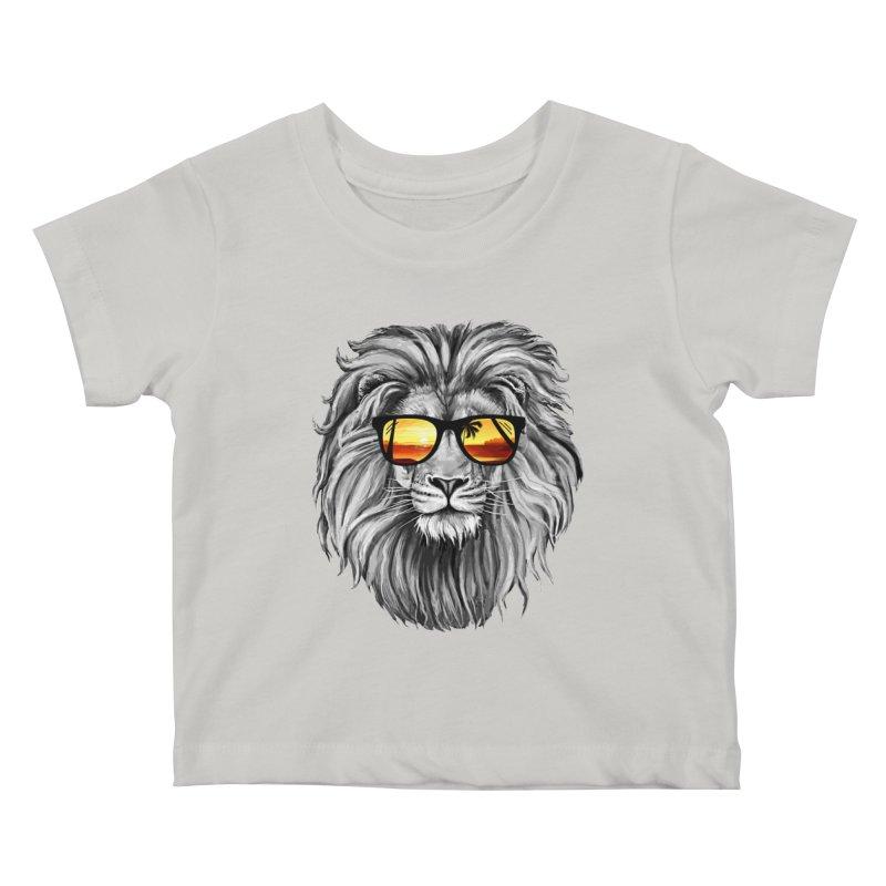 Summer Lion Kids Baby T-Shirt by clingcling's Artist Shop