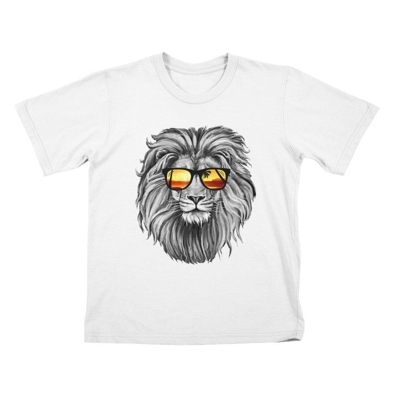 Summer Lion Kids T-Shirt by clingcling's Artist Shop