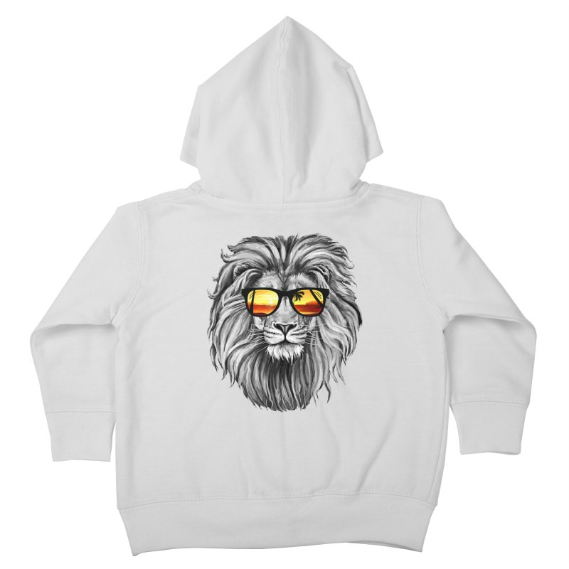 Summer Lion Kids Toddler Zip-Up Hoody by clingcling's Artist Shop