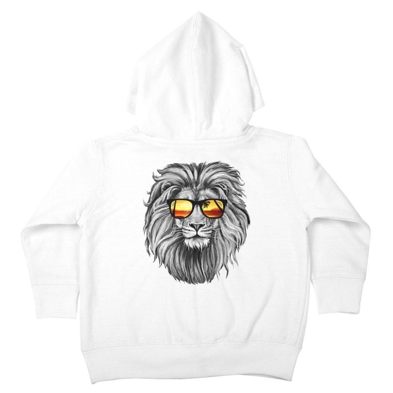 Summer Lion Kids Toddler Zip-Up Hoody by clingcling's Artist Shop