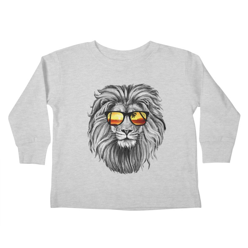 Summer Lion Kids Toddler Longsleeve T-Shirt by clingcling's Artist Shop