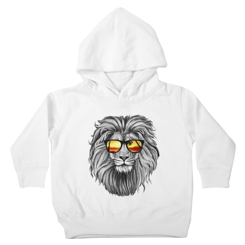 Summer Lion Kids Toddler Pullover Hoody by clingcling's Artist Shop