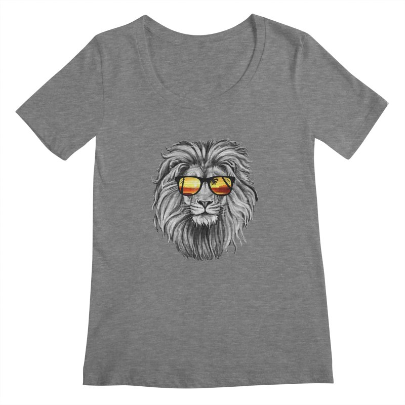Summer Lion Women's Scoopneck by clingcling's Artist Shop