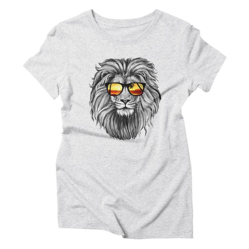 Summer Lion Women's Triblend T-Shirt by clingcling's Artist Shop