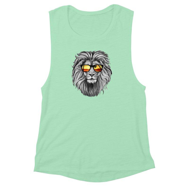 Summer Lion Women's Muscle Tank by clingcling's Artist Shop