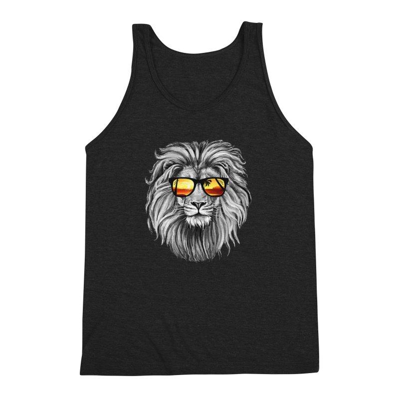 Summer Lion Men's Triblend Tank by clingcling's Artist Shop