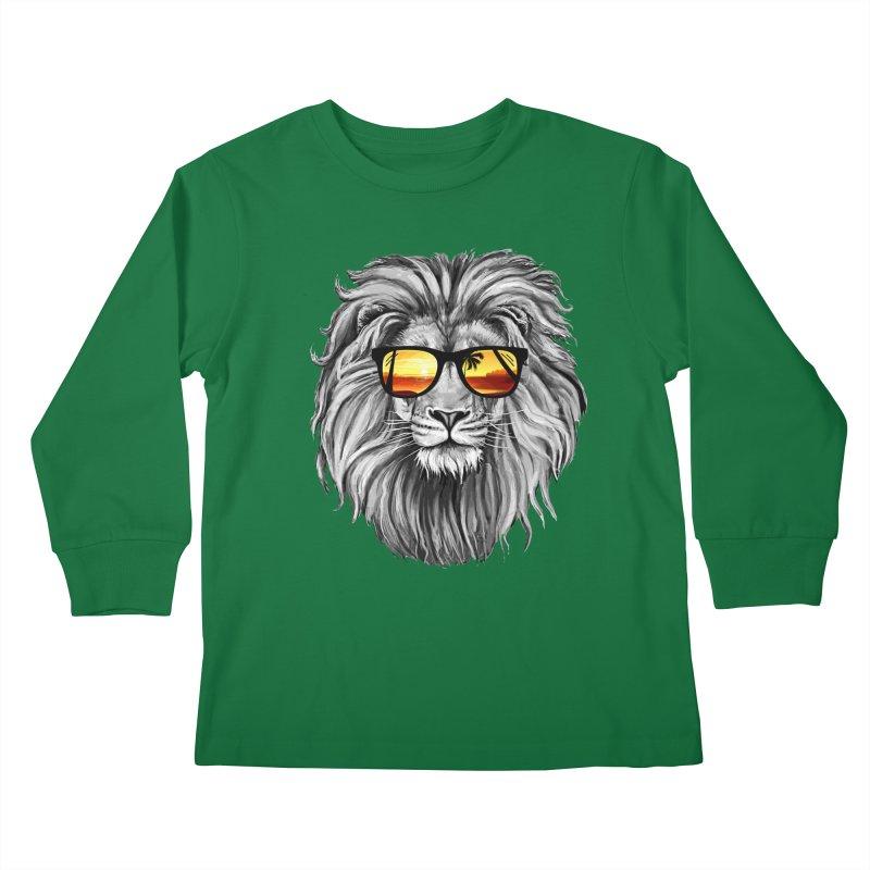 Summer Lion Kids Longsleeve T-Shirt by clingcling's Artist Shop