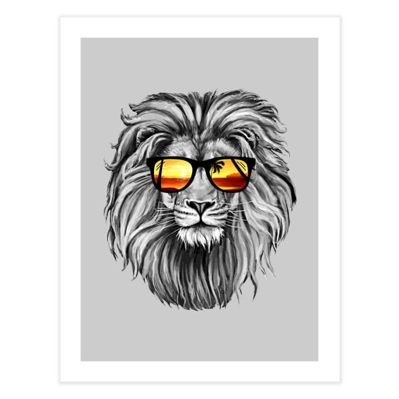 Summer Lion Home Fine Art Print by clingcling's Artist Shop