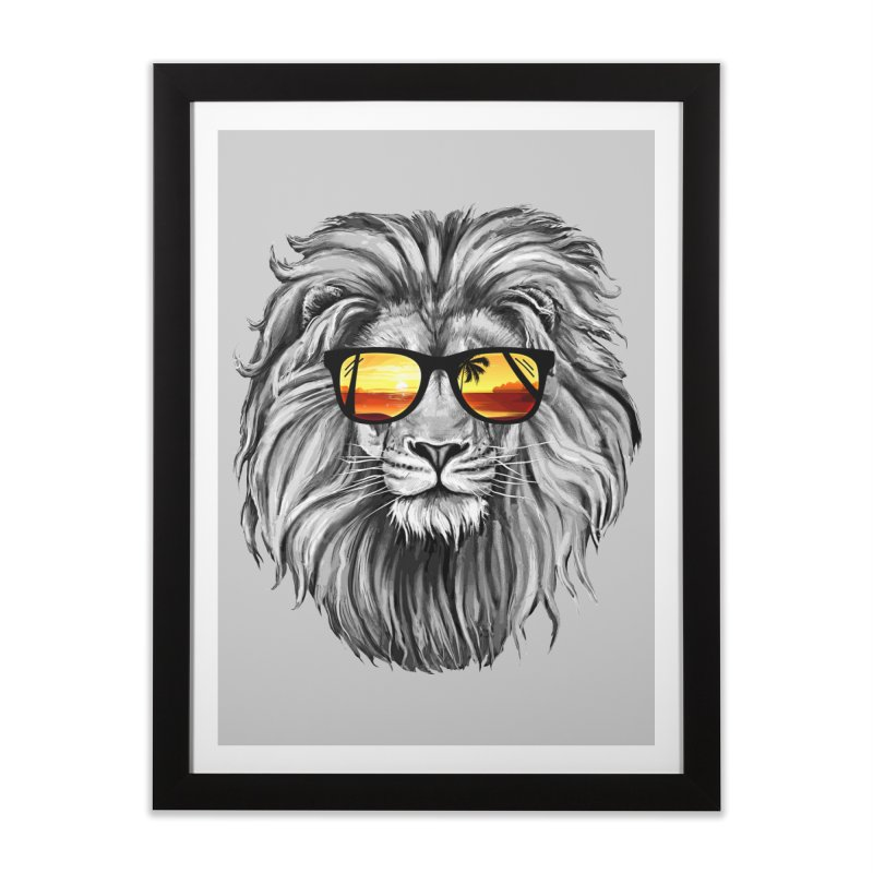 Summer Lion Home Framed Fine Art Print by clingcling's Artist Shop