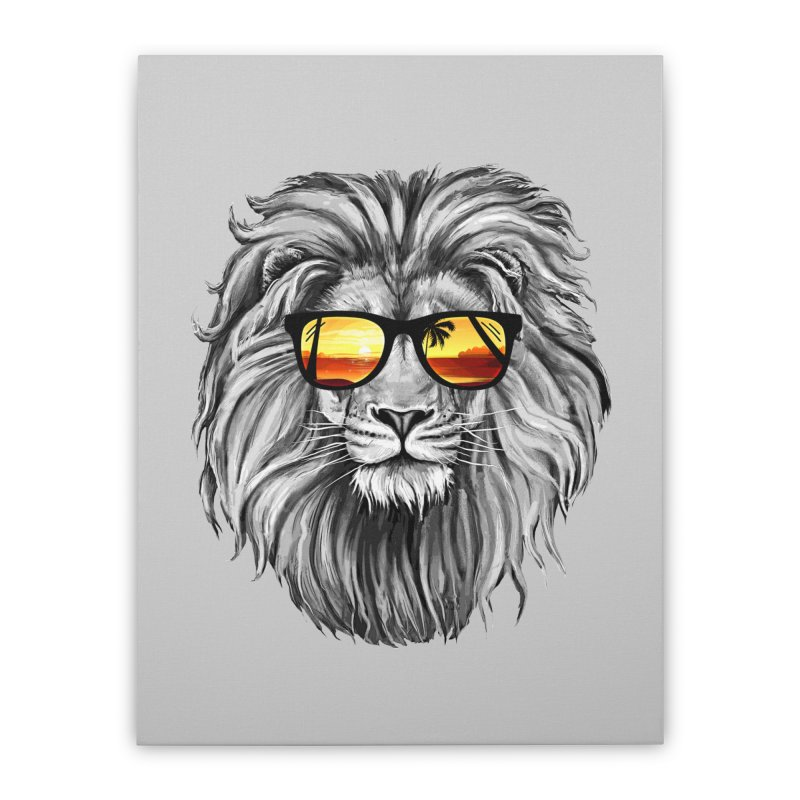 Summer Lion Home Stretched Canvas by clingcling's Artist Shop