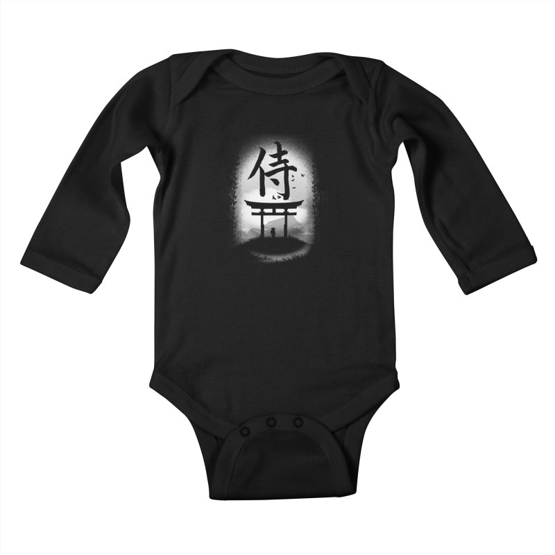 The Samurai Kids Baby Longsleeve Bodysuit by clingcling's Artist Shop