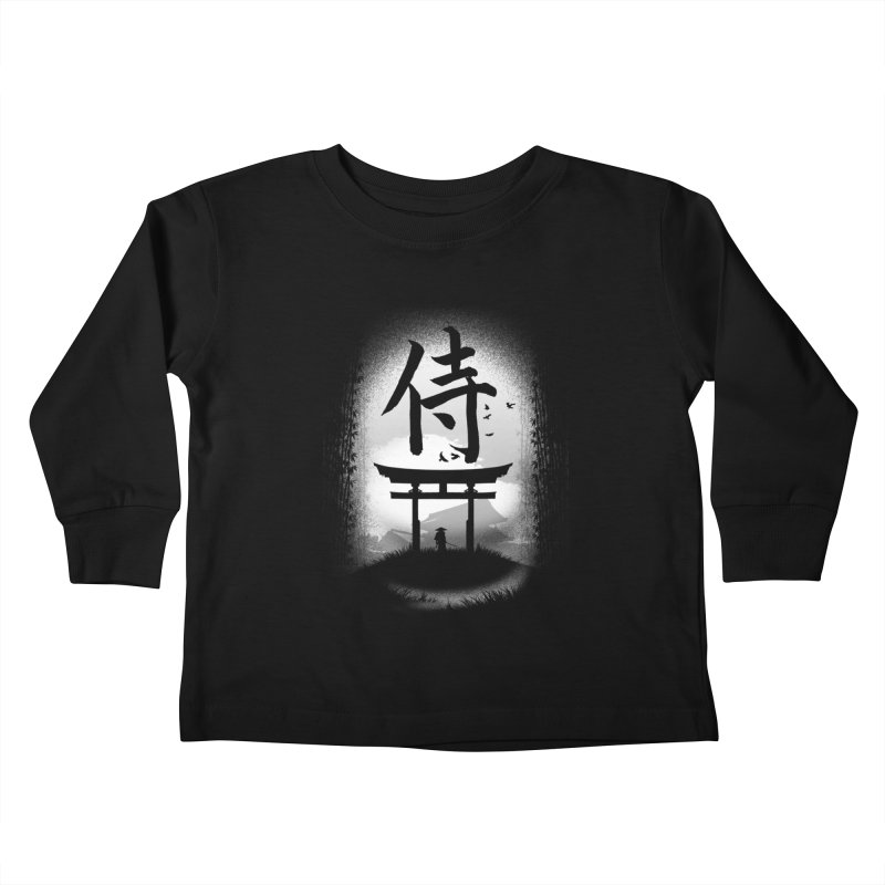 The Samurai Kids Toddler Longsleeve T-Shirt by clingcling's Artist Shop