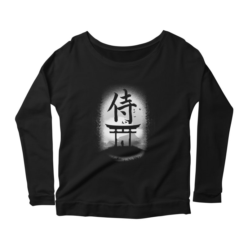 The Samurai Women's Longsleeve Scoopneck  by clingcling's Artist Shop