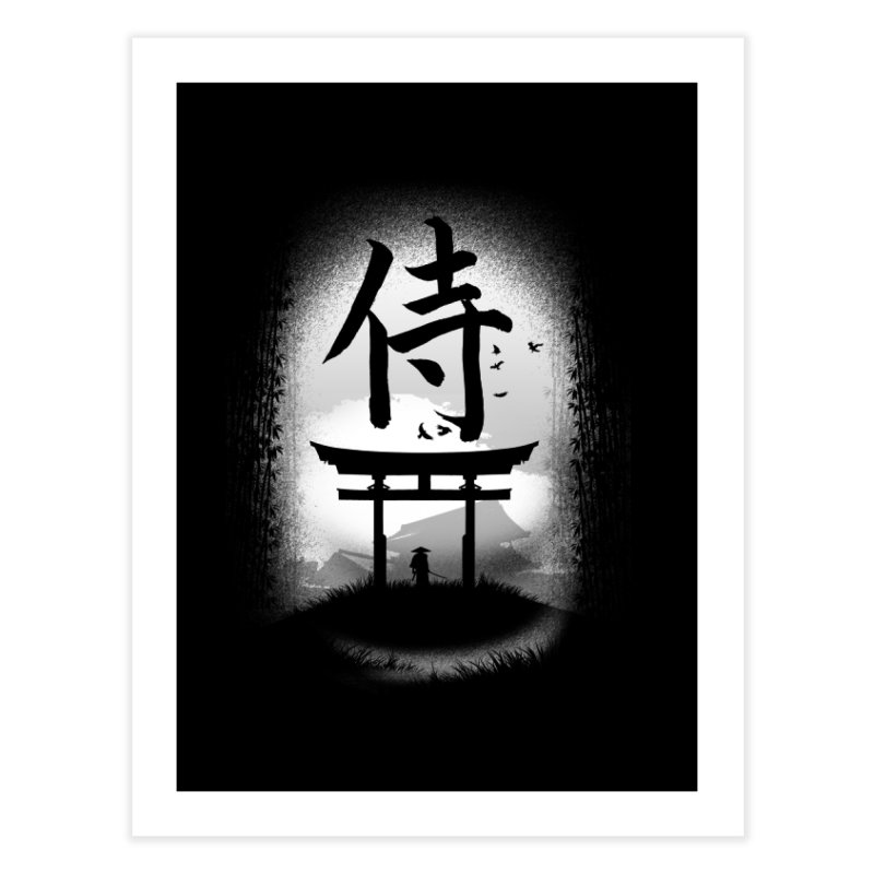 The Samurai Home Fine Art Print by clingcling's Artist Shop