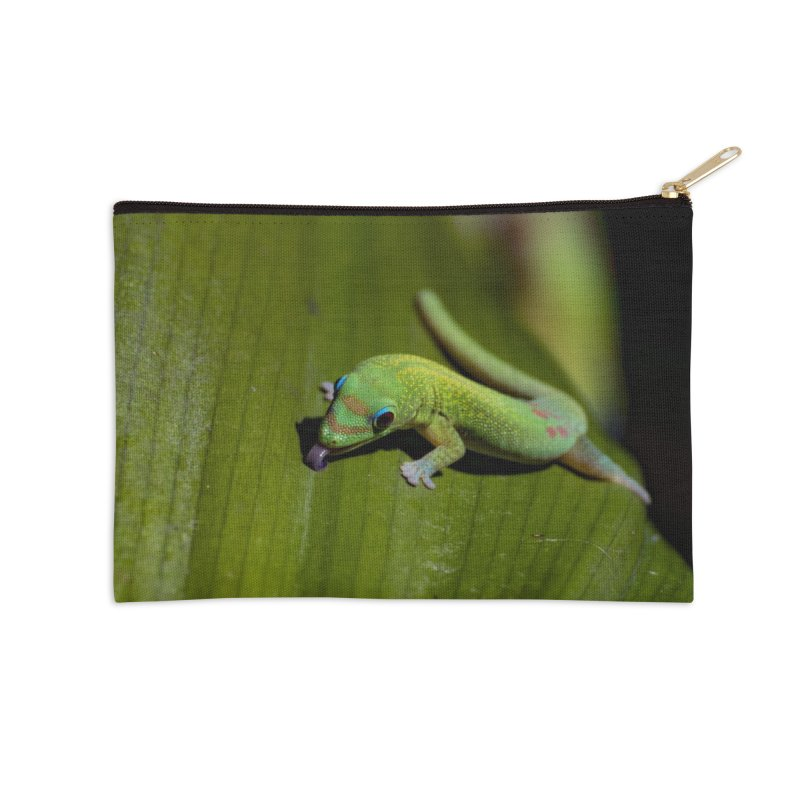 Gold Dust Day Gecko No. 1 Accessories Zip Pouch by CLINTZERO ONLINE SHOP
